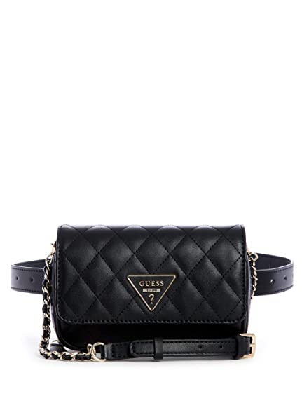 db8335c054 GUESS California Dream CNVT Xbody Belt Bag Black  Amazon.co.uk ...
