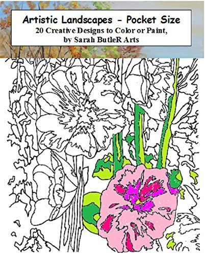 Artistic Landscapes Pocket Size Coloring - 20 Real Paintings (4 1/4 x 5 1/2)