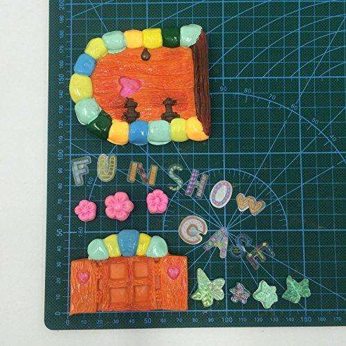 Soap Making,Silicone Sugarcraft Mold Gumpaste Color Random Polymer Clay Chocolate Fondant Delidge Vintage Fairy Garden Fairy Or Gnome Home Door and Window Silicone Mold for Sugarcraft Resin