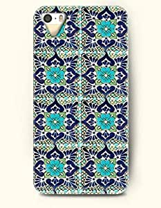 SevenArc Apple iPhone 4 4S Case Moroccan Pattern ( Turquoise and Navy Floral Door )