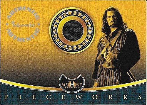 Superstar Movie Costume (2001 Inkworks The Mummy Returns #P3 Oded Fehr as Ardeth Bay Costume Relic Card)