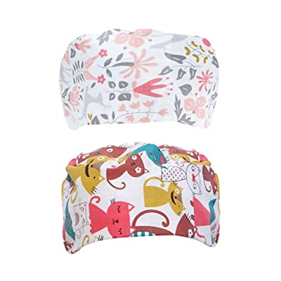 TENDYCOCO Cotton Surgical Caps Unisex Medical Protective Cap Printing Surgical Cap Adjustable Nurse Cap for Doctor Nurse Protection 2PCS: Clothing