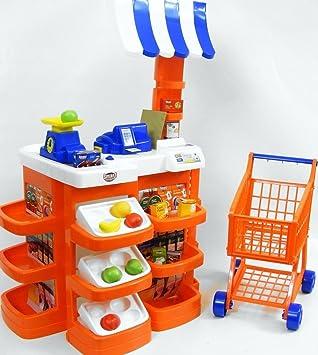 10cf63c9ed8e Kids Supermarket Shopping Car Toy And Cashier Desk Supermarket Toy ...