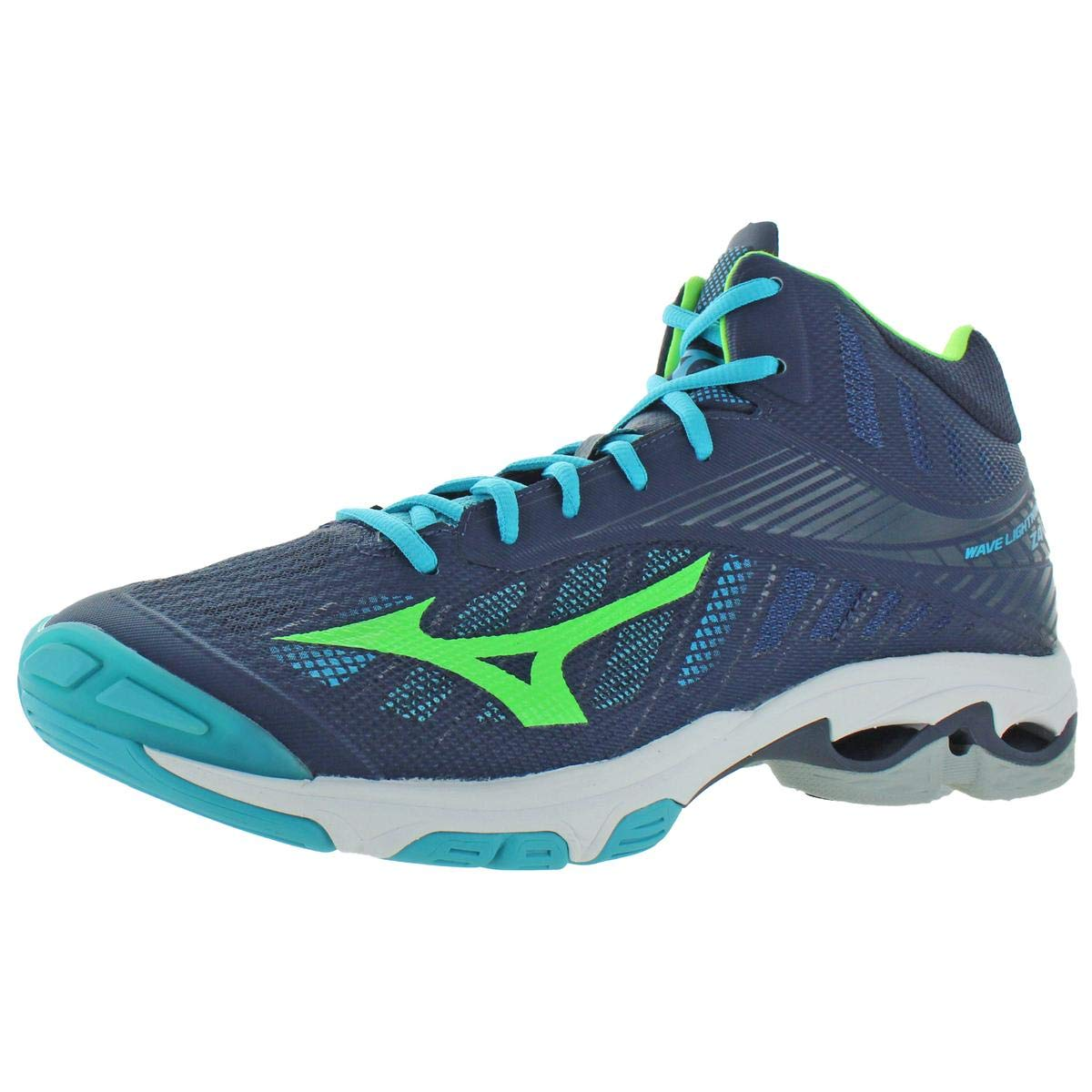 Mizuno Mens Wave Lightning Z4 Mid Lace-Up Volleyball Shoes Navy 14 Medium (D) by Mizuno