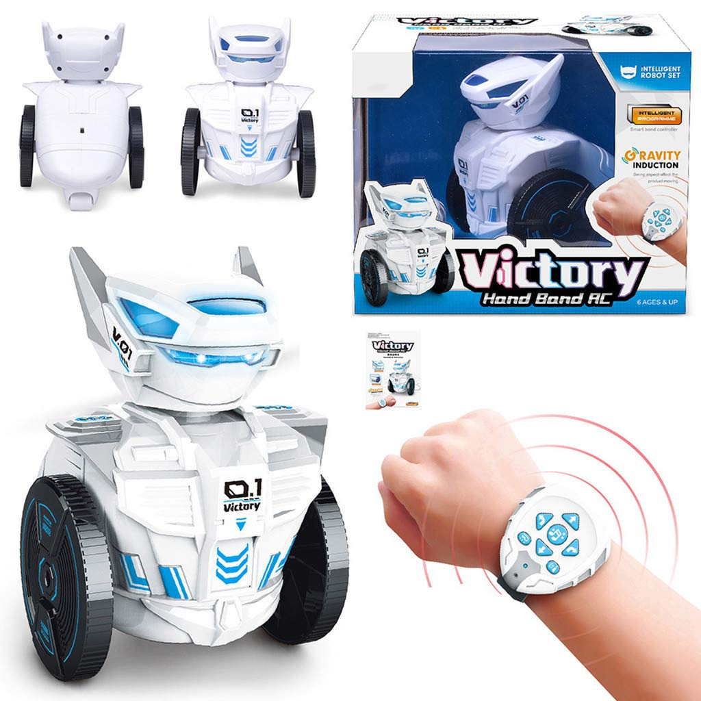 LtrottedJ Victory Intelligent Remote Control Music Robot for Kids Toy Gravity Sensor Robot