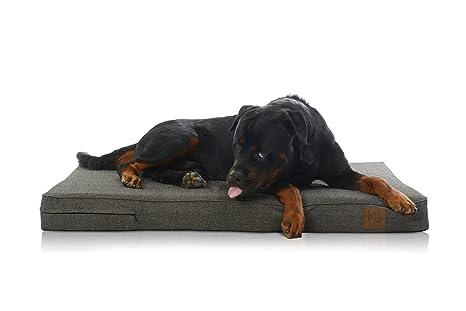 LaiFug - cama ortopédica para mascota/perro de espuma viscoelástica, forro impermeable durable y