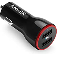 Anker 24W Dual USB Car Charger, PowerDrive 2 for iPhone Xs/XS Max/XR/X / 8/7 / 6 / Plus, iPad Pro/Air 2 / Mini, Note 5/4, LG, Nexus, HTC, and More