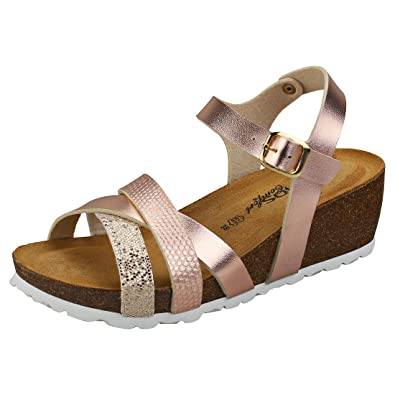 Sandalen Comfort Damen Buckle By Cosmos Strappy Mustang Single HED92IW