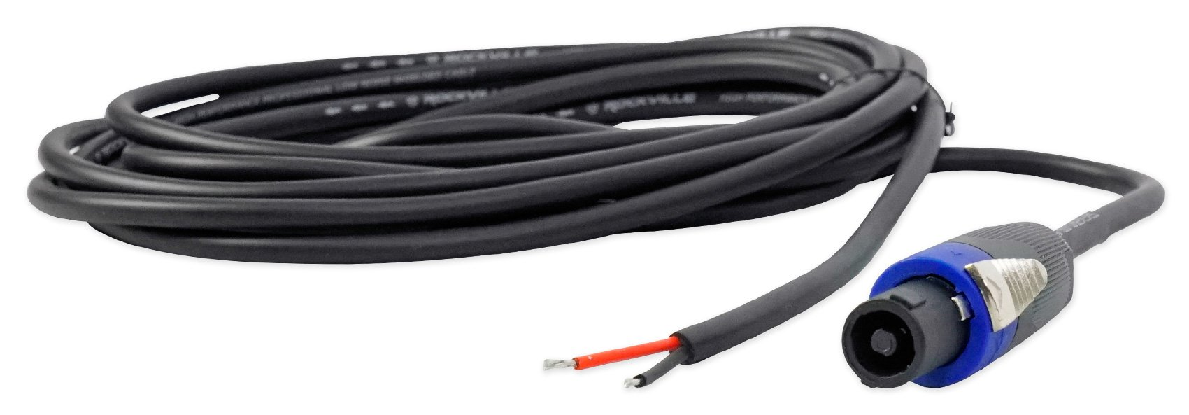 Rockville RHC15 15 Foot Speakon to Bare Wire Speaker Cable,16 Gauge,100% Copper by Rockville
