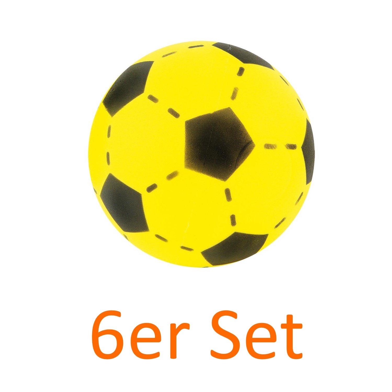 Juego de 6 atabiano Softball suave amarillo 20 cm Espuma - Balón ...