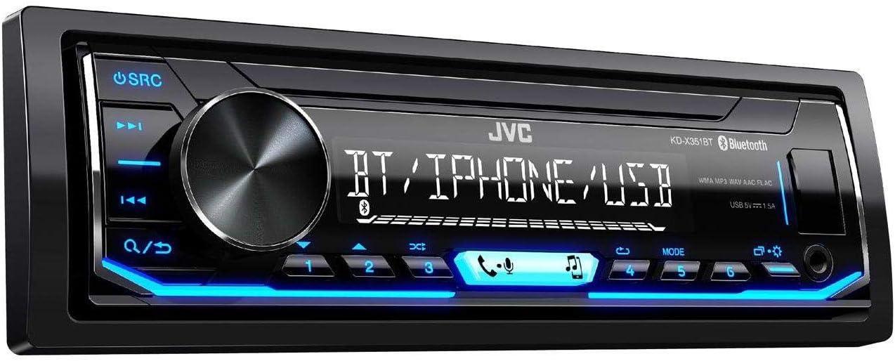 JVC KD-X351BT AUX USB Bluetooth MP3 Autoradio f/ür Audi A3 8L, 1996-2000