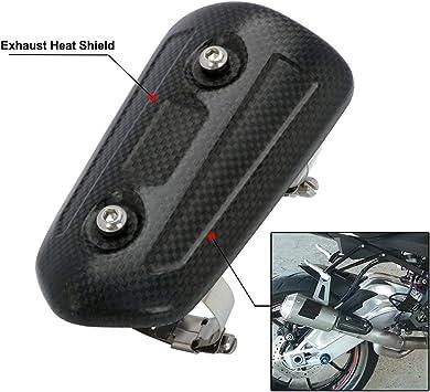 Ysmoto Motorrad Auspuffrohr Hitzeschild Isolierung Board Universal Carbon Fiber Auspuff Mittelrohr Hitzeschutz Schutz Cover Guard Auto