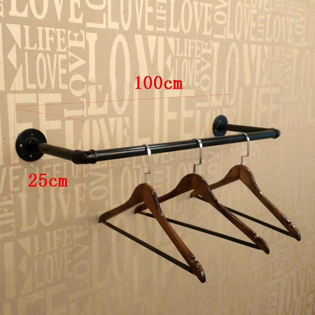 コート洋服ラック 衣服棚ロフト産業風の装飾アメリカのレトロな鉄の着用服ラックハンガーは古い壁掛けの衣類棚を行う (サイズ さいず : 100cm) 100cm  B07RLRXG2T
