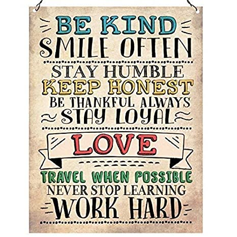 Amazon.com: WallDector Be Kind Smile Often Love Work Hard ...