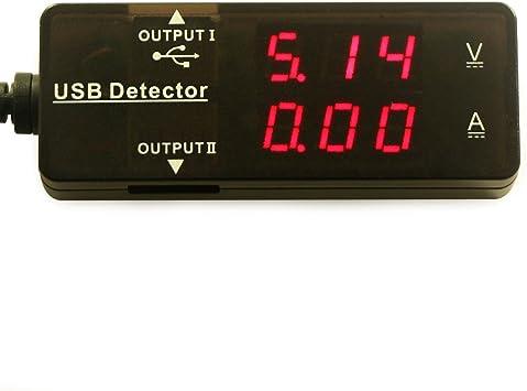 LED Display USB Meter Multifunctional Electrical Tester Capacity Voltage Current Power Meter Detector Reader with Dual USB Ports 7 Modes DROK Digital Multimeter USB 2.0