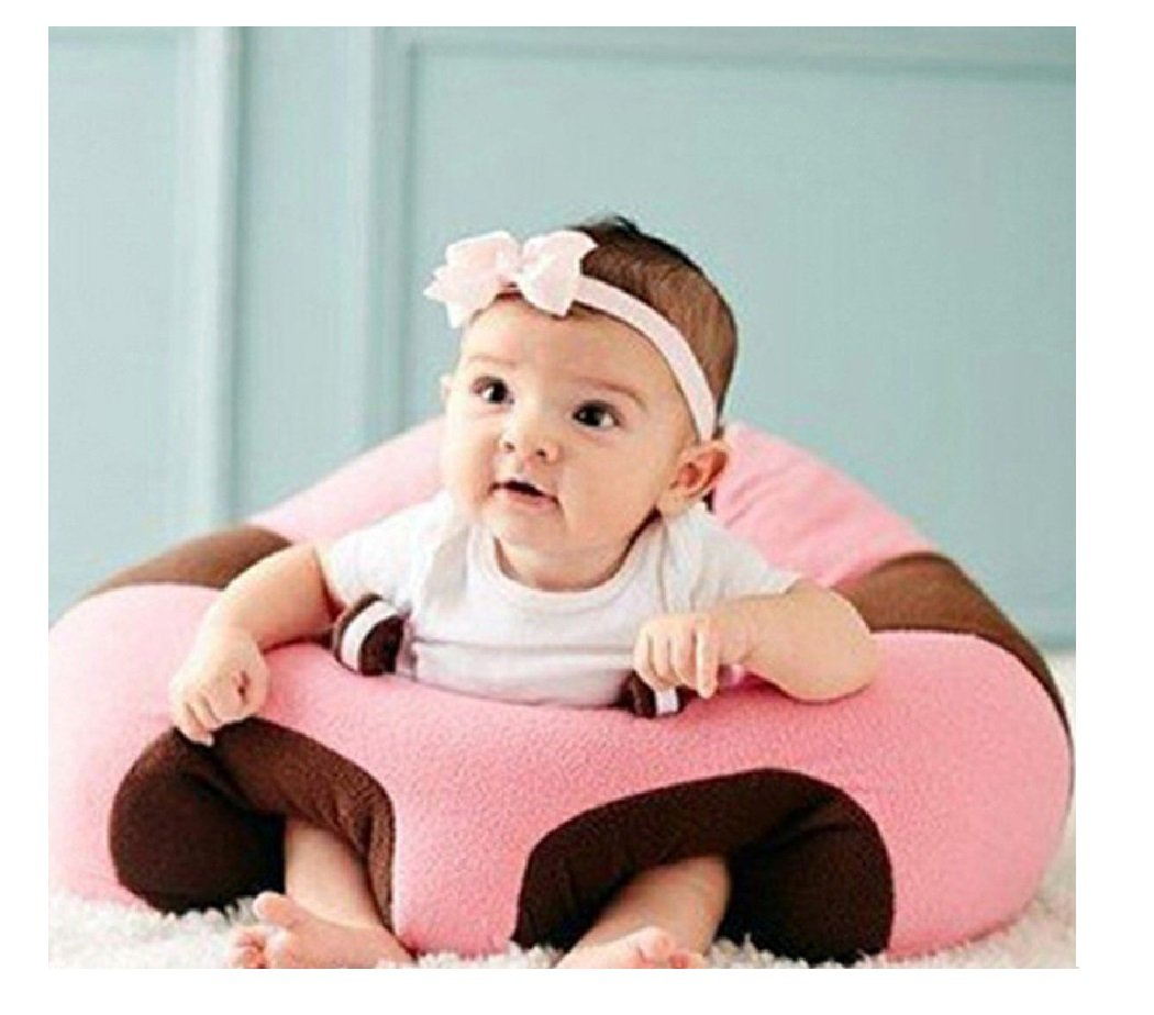 babybooper BABY SEATS SOFA FEEDING CHAIR CHILDREN HIGH CHAIRS PUFF SEAT BEDDING INFANT NEST BEANBAG INFLATABLE ARMCHAIR FOR KID CUSHION SIT (C Pink)