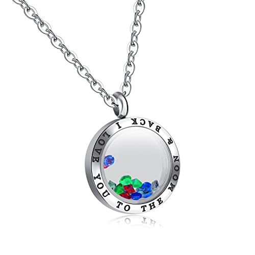 I Love You to the Moon and Back Love Necklace for Women Men 6b32b3736