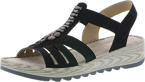 Rieker Damen V18q2 80 Geschlossene Sandalen Sandalen Damen