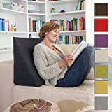 Sabeatex The Amazing Wedge for your Living- or Bed Room, Reading Pillow for Relaxed Sitting. 5 Uni-Colours for Trendy Room Design