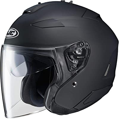 HJC Solid Adult IS-33 II Cruiser Motorcycle Helmet - Matte Black/Large: Automotive