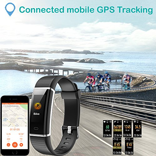 Willful Fitness Tracker, Heart Rate Monitor Fitness Watch Activity Tracker(14 Modes) Pedometer with Step Counter Sleep Monitor Call SMS SNS Notice for Women Men Kids (Black+Black) by Willful (Image #7)