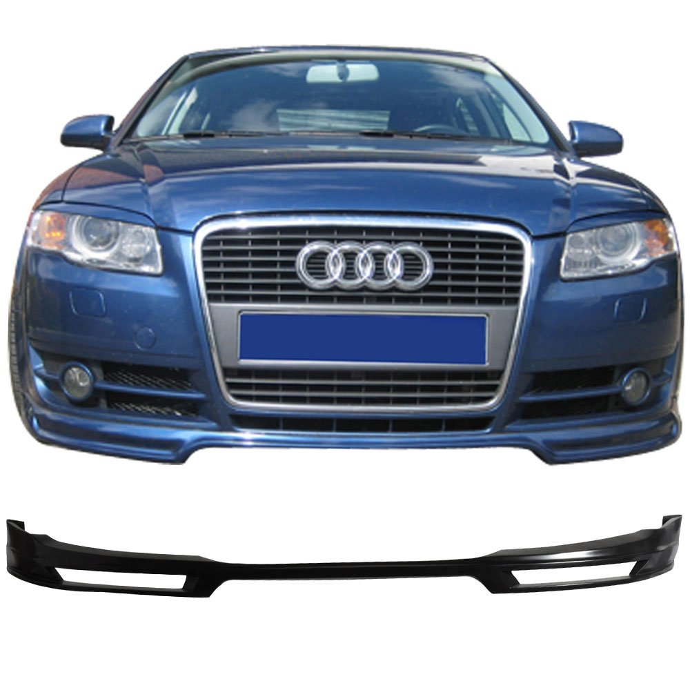 2007 Type A Style Unpainted PU Front Lip Finisher Under Chin Spoiler by IKON MOTORSPORTS Front Bumper Lip Fits 2006-2008 Audi A4 B7