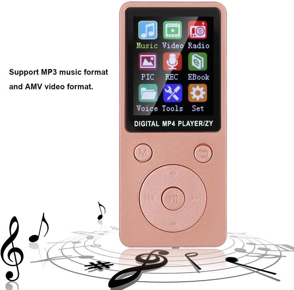 etc. m/úsica Libro electr/ónico 1.8  Reproductor Musik port/átil Compatible con Tarjeta de Memoria 32G Video Radio Azul grabaci/ón Bluetooth MP3 // MP4 Player con Auriculares