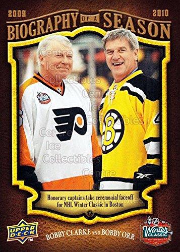 (CI) Bobby Clark, Bobby Orr Hockey Card 2009-10 Upper Deck Biography of a Season 19 Bobby Clark, Bobby Orr