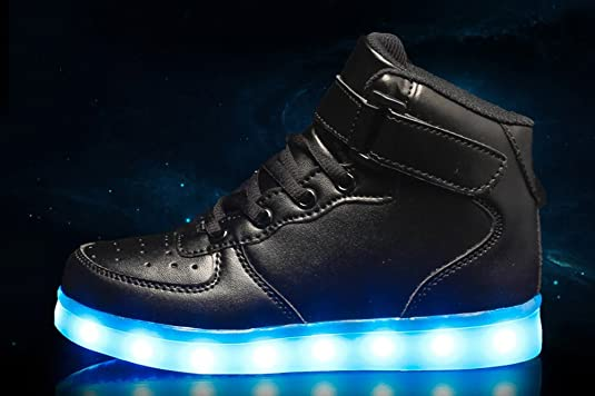 Amazon.com | Coolloog Kids High Top 11 Colors LED Shoes USB Charging Flashing Sneakers Light up Shoes Birthday Party Halloween Christmas | Sneakers