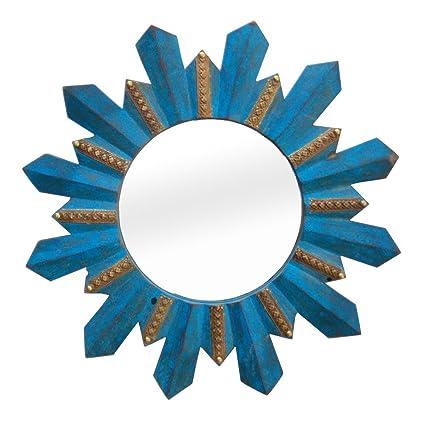 Buy Indune\'s Handcrafted (Antique) Wooden Round Blue Metal Distress ...