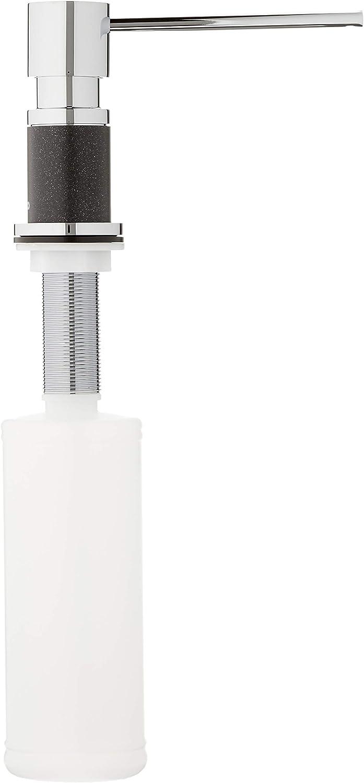 Einbau Seifenspender Blanco LATO in alumetallic//chrom Sp/ülmittelspender als Zubeh/ör f/ür das Sp/ülbecken in der K/üche