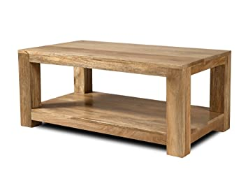 Light Mango Solid Wood Coffee Table Dakota Living Room Furniture