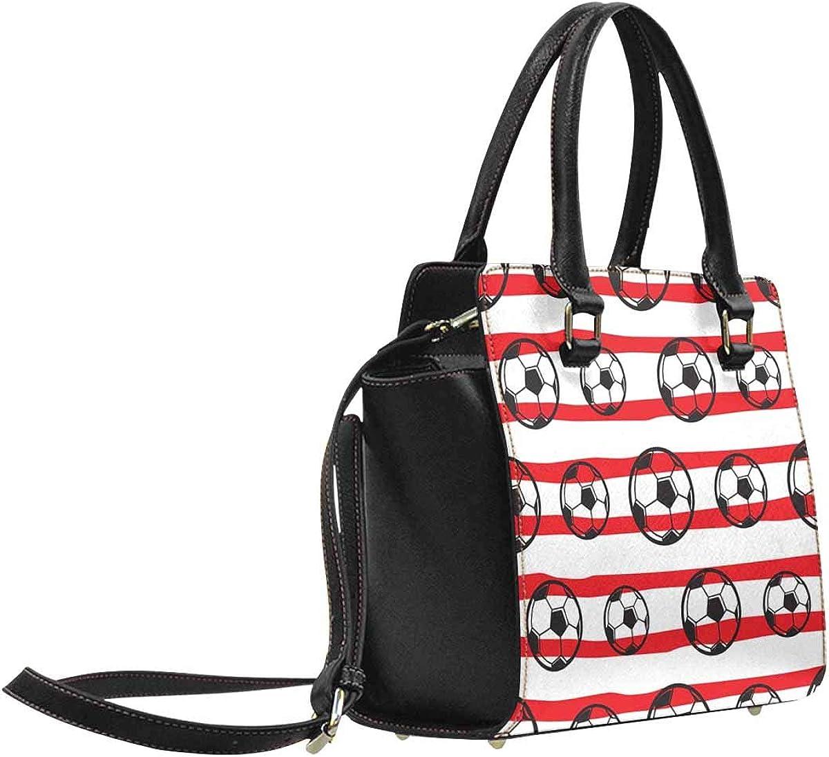 Stars and Bats PU Leather Classic Shoulder Handbag Tote Bag Pumpkins INTERESTPRINT Halloween Pattern with Ghosts