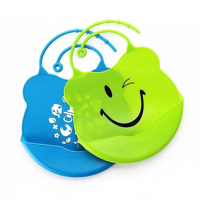 Amazon Com Csean Unisex Baby Bibs Waterproof Organic Silicone Fit