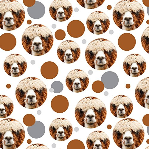 Premium Gift Wrap Wrapping Paper Roll Pattern - Animals - Brown Alpaca ()
