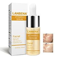 Vitamin C Serum Hyaluronic Acid Snail Face Essence Cream for Remover Freckle Fade Speckle Dark Spots+ Skin Anti-Aging +Anti-Oxidation Repairing Damaged Skin