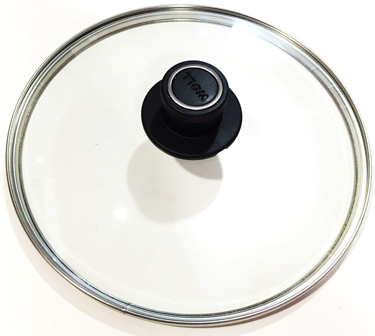 Woll Tempered Glass with Stainless Steel Rim and Vented Knob Round Lid, 8'', Clear by Woll (Image #2)