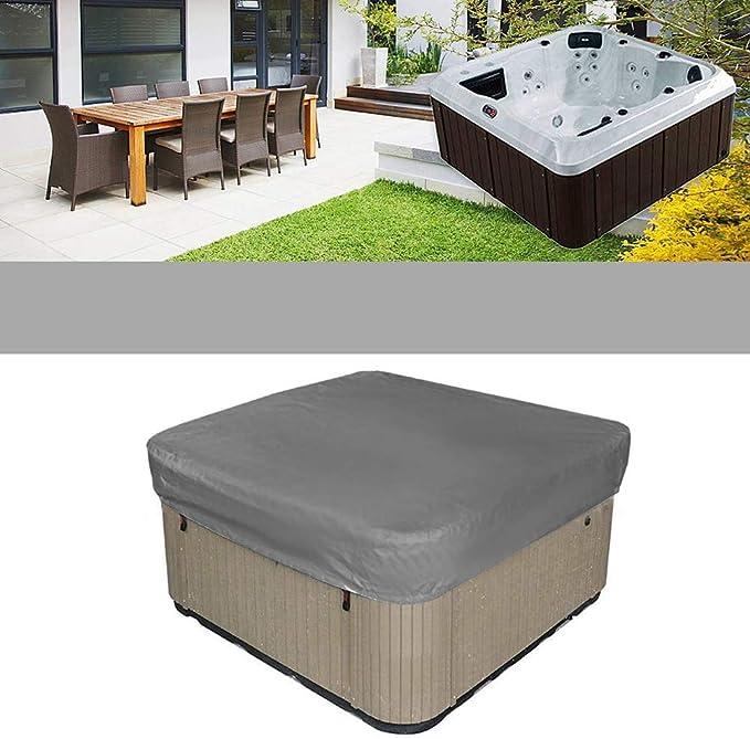"Waterproof Outdoor Square Hot Tub /& Jacuzzi Cover w// Elastic Hem 14 x 94 x 94/"""