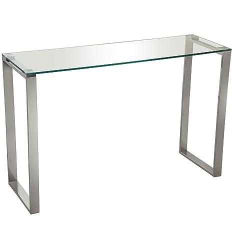 SuskaRegalos-Mesa Entrada Metal/Cristal-Cristal Templado ...