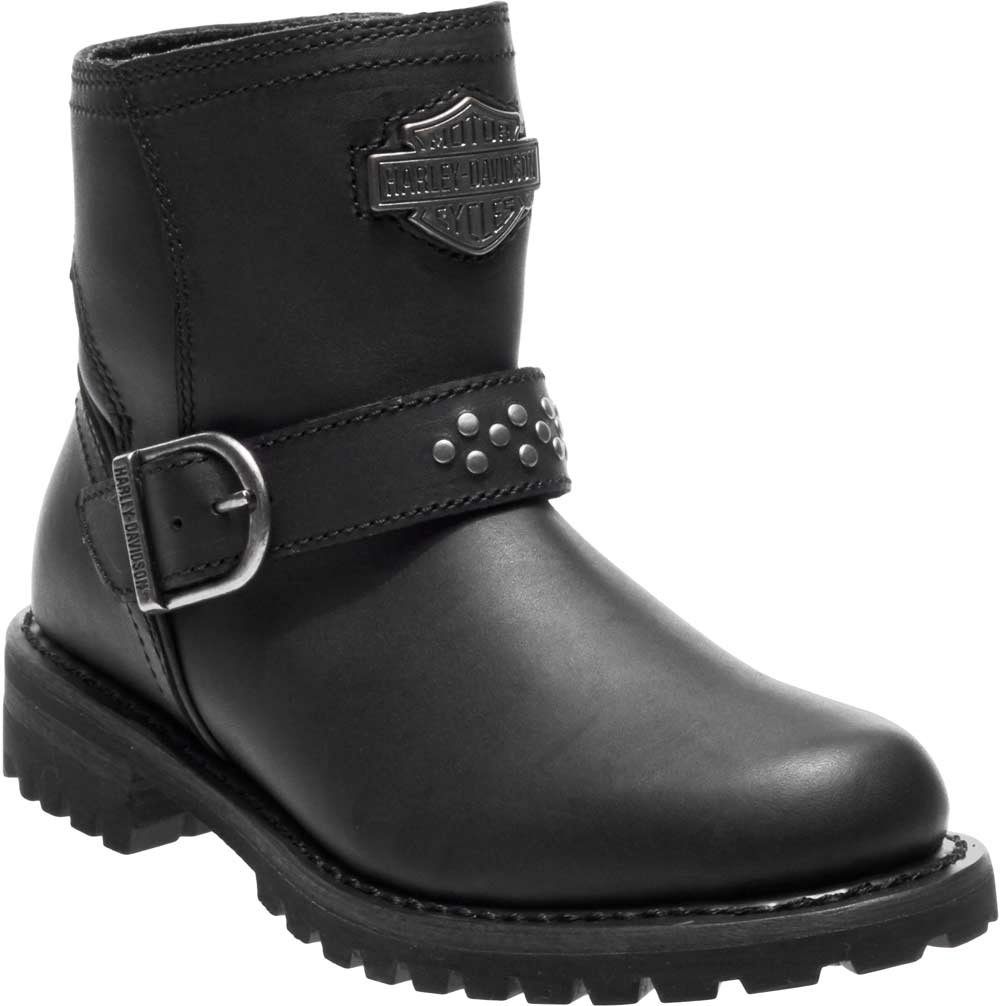 Harley-Davidson Women's Brantley 5-Inch Leather Motorcycle Boots D87144 D87145 B07DF9X8F1 6.5 B(M) US|Black