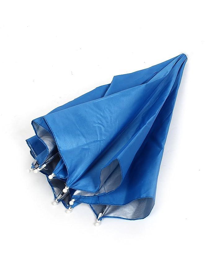 Amazon.com: eDealMax Pesca Deportiva Contra Los rayos UV paraguas plegable Cinta elástica Sombrero Azul: Home & Kitchen