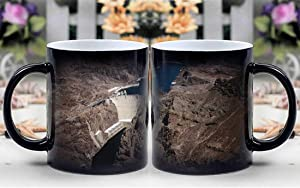 Amymami Personalized Gifts Heat Changing Magic Coffee Mug - Hoover Dam Lake Mead Colorado River Canyon