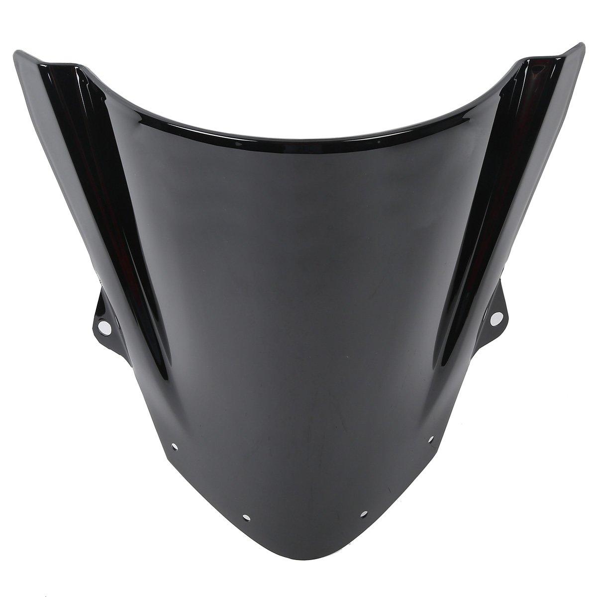 XFMT Black Windshield Windscreen Compatible with Honda CBR 600 F4 1999-2000 Double Bubble