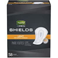 Depend Guards for Men Bladder Control Pad Light Absorbency Absorb-Loc One Size Fits Most Male Disposable, 35641 - Pack…
