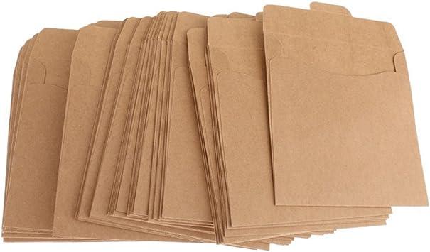 Gaoominy Pack de 50 CD DVD Sleeves Disc Bolsas de Papel: Amazon.es: Electrónica