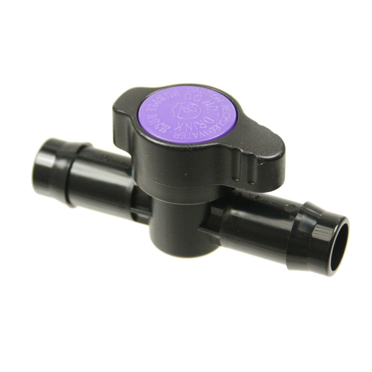 Antelco 1/2' Barb Tubing Coupling Valve - Purple for Drip Irrigation