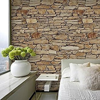 Modern 21 Inch By 394 Inch Stone Texture Pvc Waterproof Brick