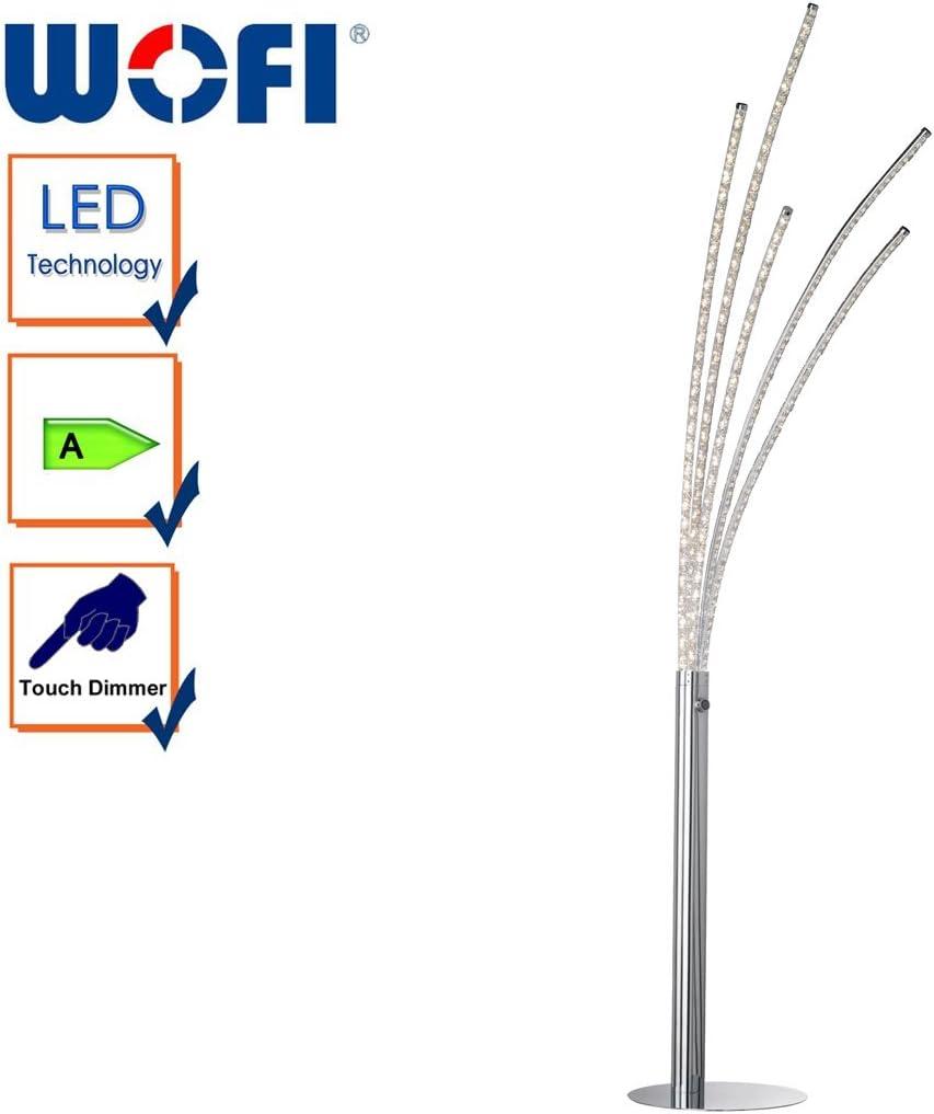 Aluminium WOFI 9537.08.01.6000 A 32 watts Integriert 136 x 23 x 22.5 cm Deckenleuchte Chrom