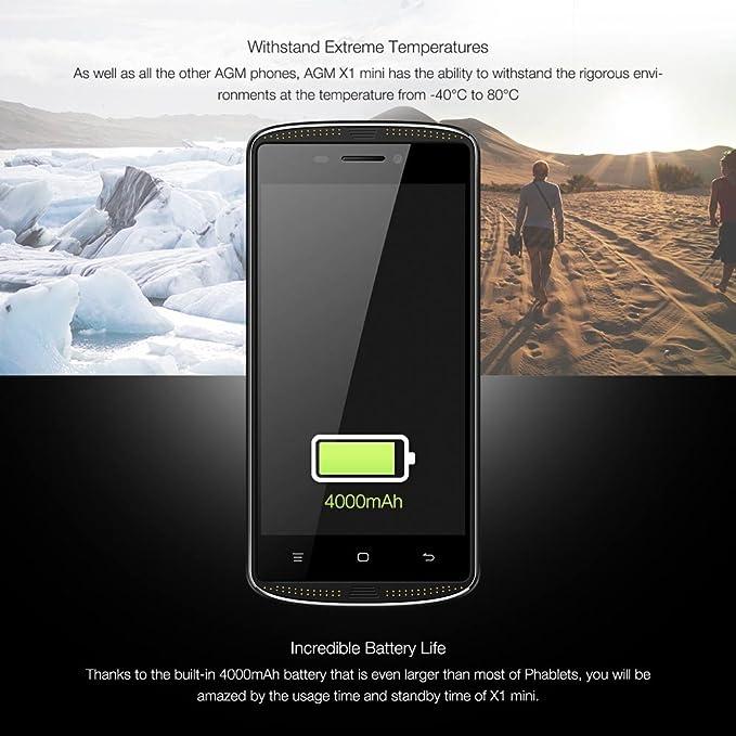 AGM X1 Mini Smartphone 4 G LTE Teléfono Móvil para Exteriores IP68 ...