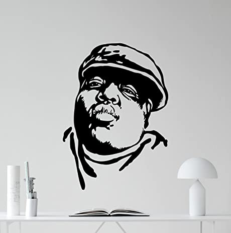 Notorious Big Wall Decal Biggie Smalls Vinyl Sticker Rapper Rap Music Wall  Decor Teen Hip Hop